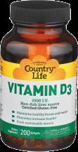 Vitamin D3 2,500 IU product image.