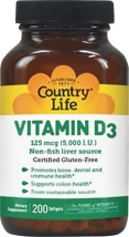 Vitamin D3 5,000 IU product image.