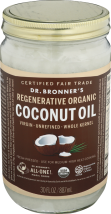 Dr. Bronner's Organic Whole Virgin Coconut Oil product image.