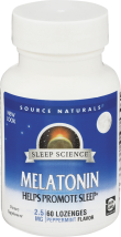 Melatonin 2.5 mg. product image.