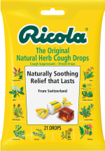 Ricola Cough Drops 19-21 ct., selected varieties product image.