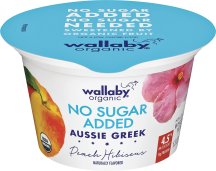 Wallaby Organic Unsweetened Greek Yogurt product image.