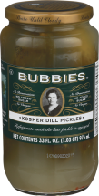Bubbies Kosher Dill Pickles 33 oz. other Bubblies products also on sale product image.