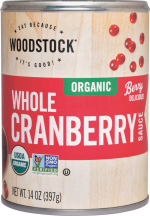 Woodstock Organic Cranberry Sauce product image.
