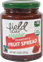 Field Day Organic Fruit Spread 14 oz., selected varieties product image.
