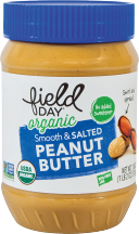 Field Day Organic Peanut Butter 18 oz., selected varieties product image.