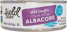 Field Day White Albacore Tuna 5 oz., selected varieties product image.