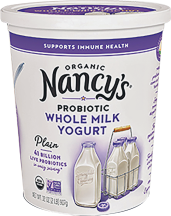 Nancy's Organic Whole Milk Yogurt 32 oz., selected varieties product image.