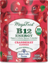 Megafood B12 Energy Gummies 90 ct., selected varieties product image.