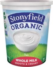 Stonyfield Organic Yogurt 32 oz., selected varieties product image.