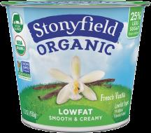 Stonyfield Organic Yogurt 5.3 oz., selected varieties product image.
