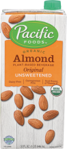 Organic Almond Plant-Based Beverage product image.