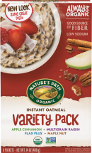 always organic, hearty oatmeal product image.