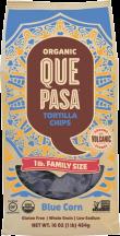 Que Pasa Organic Tortilla Chips 16 oz., selected varieties product image.