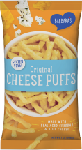 tasty cheese puffs product image.