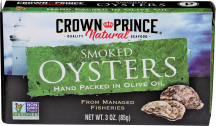 Crown Prince Smoked Oysters product image.
