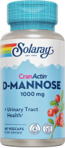 Solaray D-Mannose with CranActin 60 ct. other Herbal products also on sale product image.