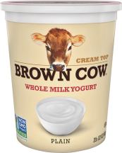 Brown Cow Cream Top Yogurt 32 oz., selected varieties product image.