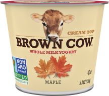Brown Cow Cream Top Yogurt 5.3 oz., selected varieties product image.