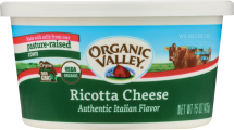 Organic Valley Organic Ricotta Cheese 15 oz. product image.