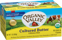 Organic Valley Organic Butter 16 oz., selected varieties product image.