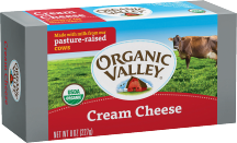 Organic Valley Organic Cream Cheese 8 oz., selected varieties product image.