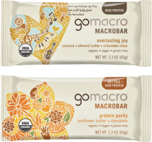 GoMacro Organic Bar 2-2.5 oz., selected varieties product image.