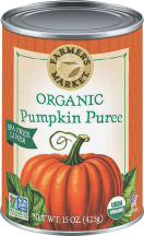Farmer's Market Organic Pumpkin 15 oz. product image.