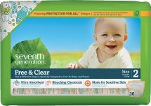 Seventh Generation Diapers 17-40 ct., selected varieties product image.
