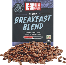Equal Exchange Organic Bulk Breakfast Blend Coffee per pound in bulk, selected varieties product image.