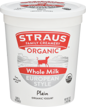 Straus Family Creamery Organic Yogurt 32 oz., selected varieties product image.