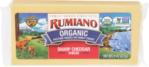 Rumiano Organic Cheese 8 oz., selected varieties product image.