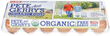 Pete and Gerry's Organic Eggs 1 Dozen, selected varieties product image.