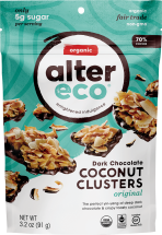 Alter Eco Organic Chocolate Coconut Clusters 3.2 oz., selected varieties other Alter Eco chocolate also on sale product image.