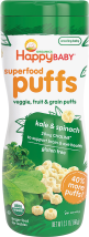 Happy Baby Organic Puffs 2.1 oz., selected varieties other Happy Baby snacks also on sale product image.