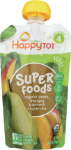 Happy Family Organic Superfoods 3.5-4.22 oz., selected varieties product image.