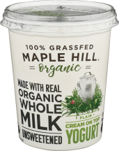 100% Grass Fed Organic Yogurt product image.