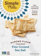 Simple Mills Almond Flour Crackers 4.25 oz., selected varieties product image.