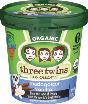 Three Twins Organic Ice Cream 16 oz., selected varieties product image.