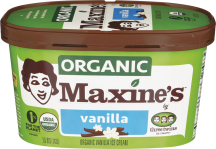 Maxine's Organic Ice Cream 1.5 qt., selected varieties product image.