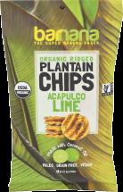 Barnana Organic Plantain Chips 5 oz., selected varieties product image.