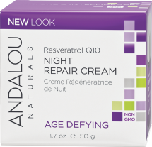 Resveratrol Q10 Night Repair Cream product image.