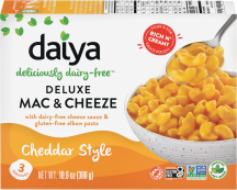 Daiya Deluxe Cheddar Style Cheezy Mac 10.6 oz., selected varieties product image.