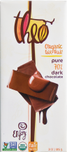 Theo Organic Chocolate Bar 3 oz., selected varieties product image.