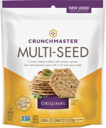 Crunchmaster Crackers 4.5 oz., selected varieties product image.