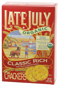 Late July Organic Crackers 6 oz., selected varieties product image.