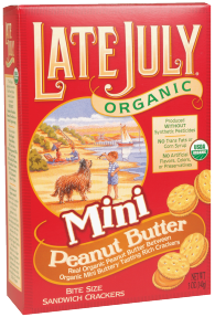 Late July Organic Mini Sandwich Crackers 5 oz., selected varieties product image.