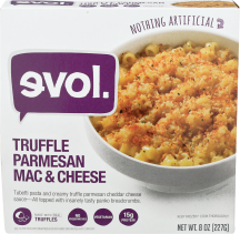 Evol Truffle Parmesan Mac & Cheese 8 oz., selected varieties other Evol frozen entrees also on sale product image.