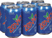 Zevia Zero Calorie Soda 6 pack, selected varieties product image.