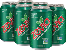 Zevia Zero Calorie Soda 6 pack, selected varieties product image.